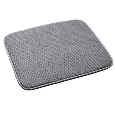 Norpro 16 by 18-Inch Microfiber Dish Drying Mat, Gray