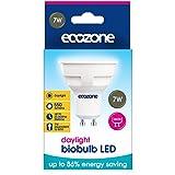 Ecozone BioBulb LED GU10 550lm - 7w Replaces 50w Halogen Bulb - 6500K Daylight – 30,000hrs lifespan - the latest Super bright technology
