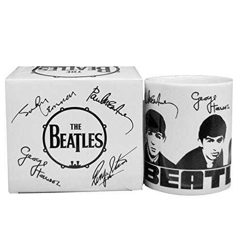 Beatles Collectible: 2009 Fab Four Portrait & Signatures Motif Design 11 oz Mug