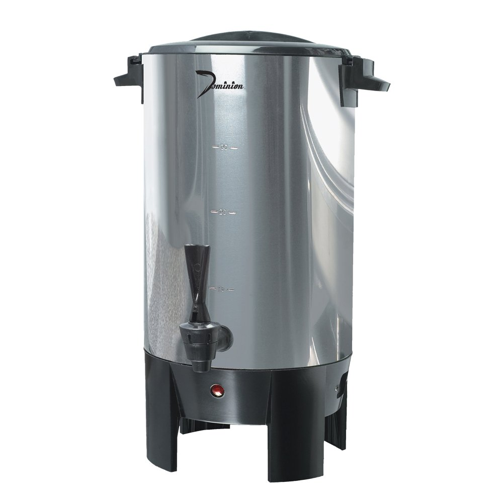 Dominion DK50 30-Cup 1000W Urn, Stainless Steel