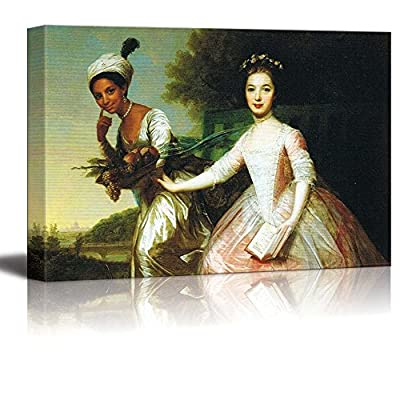Dido Elizabeth Belle by Johann Zoffany - Canvas Print Wall Art Famous Painting Reproduction - 16