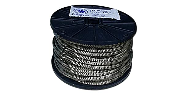 T.W Evans Cordage 19-102 Stainless Steel Cable 1//16-Inch x 500-Feet T.W Evans Cordage Co.