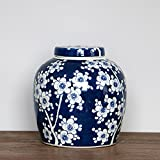 Blue and White Porcelain Cookie Jar (8.5'' × 8.5'' × 8.5'', blue and white 01)