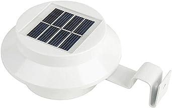 Nouveau 6 x White DEL Energie Solaire Clôture Lumière Extérieure Lampe De Jardin Lumière