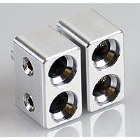Pair of Dual 1/0 Gauge to 1/0 Gauge Amp Input