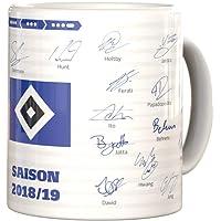 Hamburger SV HSV Kaffeebecher/Tasse ** Unterschriftentasse Saison 18/19 **