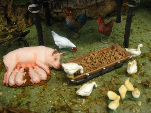 Collectible Figurine Animal Pig Nativity Scene 5'' Farm - USA_Mall