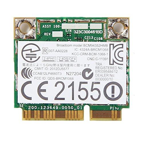 - AzureWave AW-CE123H / 802.11ac/n/b/g + Bluetooth 4.0 / Half-Size PCI-Express MiniCard