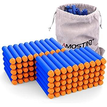 AMOSTING Refill Darts 100PCS Bullets Ammo Pack for Nerf N-Strike Elite Series - Blue