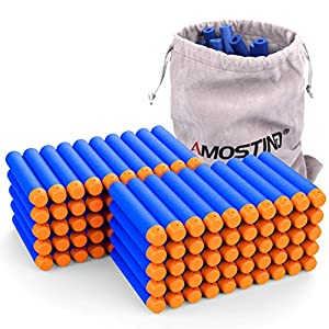 AMOSTING-Refill-Darts-100PCS-Bullets-Ammo-Pack-for-Nerf-N-Strike-Elite-Series--Blue