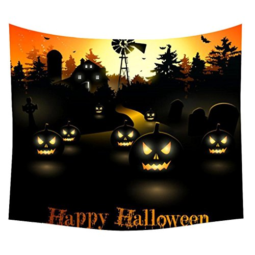 Goddessvan Halloween Wall Hanging Tapestry,Bedroom Living Room Dorm Wall Hanging Tapestry,Halloween Theme Pumpkin Print Wall Hanging Home Decor (150130cm/59.151.2