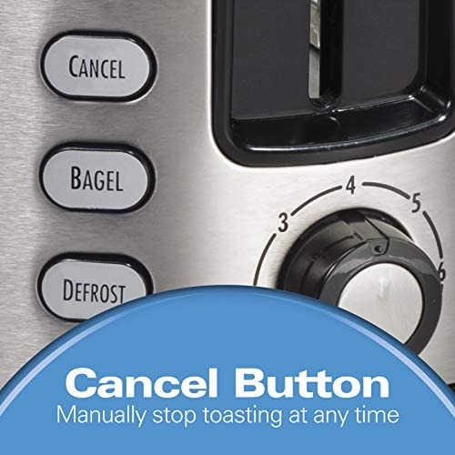 Hamilton Beach 2 Slice Extra Wide Slot Toaster with Shade Selector, Toast Boost, Auto Shutoff, Black (22633)