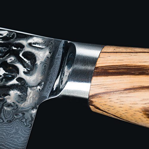 Chef Knife 6.5 inch Nakiri Knife Quality Damascus Steel Kitchen Knives, Razor Sharp Slicing Comfortable Handle Vegetable Cleaver with Gift Box by Xing YI(The Patterns of Natural Wood are Unique) by Xing Yi (Image #5)
