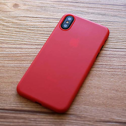 brand new c34b7 775fb iPhone X Case, Thinnest iPhone X Case, Ultra Thin Light iPhone Skin  Protective Only 0.33mm - for Apple iPhone X | iKaracase (Red)