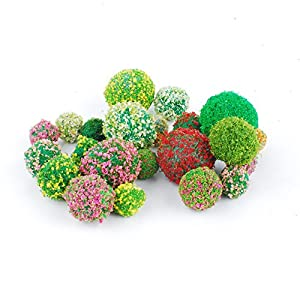 NWFashion Micro Lanscape Colorful Green Artificial Grass Flower Ball 63