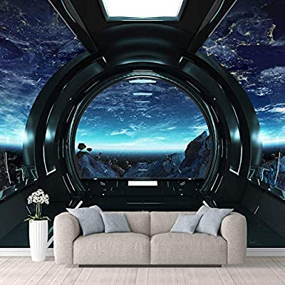 Majestic Artistry, Wall Mural Views from The Spaceship Removable, Crafted to Perfection
