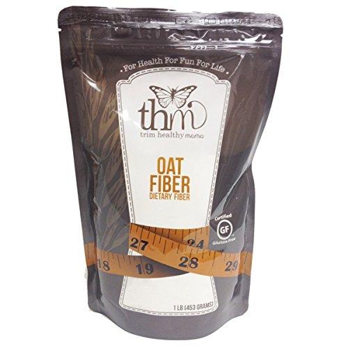 Trim Healthy Mama Oat Fiber Non-GMO Certified Gluten Free (Dietary Fiber) 1LB