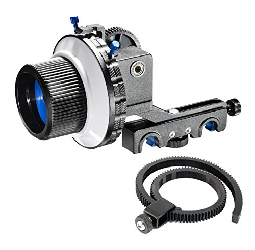 Morros Follow Focus Finder F4 for 15mm Rod Support DSLR and video cameras (F4 With Two Hard (Round Dial Plate Belt)