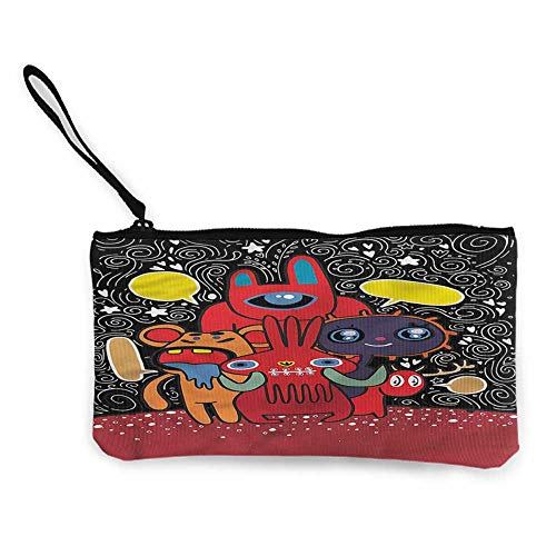 Zip Mini Wallet Indie,Monster Funny Characters W8.5