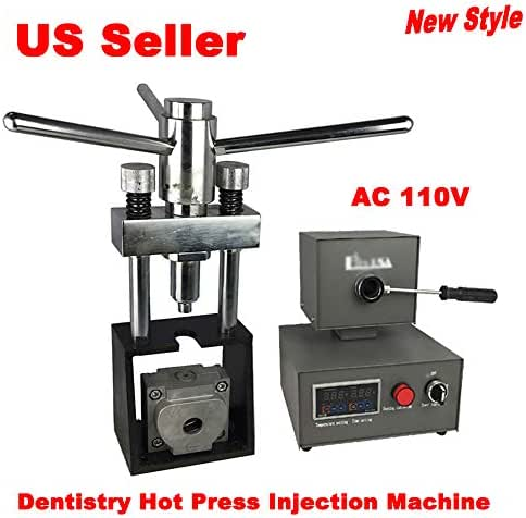 110V Dental Flexible Invisible Denture Dentistry Hot Press Injection Machine with Digital Display