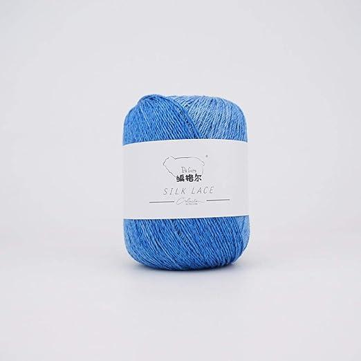 Agujas de tejer- hilo- primavera- verano- algodón mercerizado ...