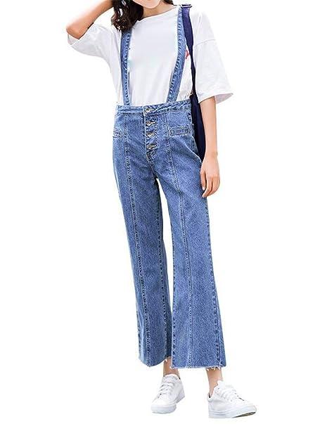 ampia scelta di colori prezzi di sdoganamento vendita online YOJDTD Pantalone con Bretelle da Donna, Bavaglino a Nove ...