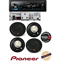 Pioneer MVH-X390BT MP3/WMA Digital Media Player Built-in Bluetooth MIXTRAX W/ 2 PAIR OF CERWIN VEGA XED62 XED Series 6.5 Inch 2-Way Coaxial Car Speakers