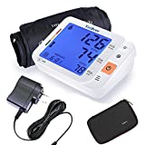 Arm Blood Pressure Monitor,Tediver Automatic Digital Blood Pressure & Irregular Heartbeat Detector with Blood Pressure Cuff [ 22-42cm] ,Easy-to-Read Backlit LCD,Accurate & Portable, for Home use [with Adaptor and Storage Case]