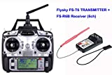 Flysky FS T6 6Ch Transmitter with R6B Receiver, HOBBYMATE 2.4G AFHDS Failsafe for Rc Heli, Airplane, Quadcopters