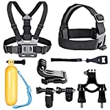 Neewer 10-In-1 Sport Accessory Kit for GoPro Hero4 Session Hero1 2 3 3+ 4 SJ4000 5000 6000 7000 in Swimming Rowing Skiing Climbing Bike Riding Camping Diving and Other Outdoor Sports