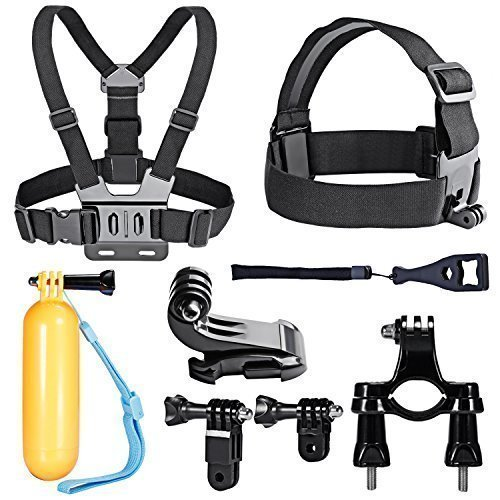 Neewer 10-In-1 Sport Accessory Kit for GoPro Hero4 Session Hero1 2 3 3+ 4 SJ4000 5000 6000 7000 in Swimming Rowing Skiing Climbing Bike Riding Camping Diving and Other Outdoor Sports by Neewer