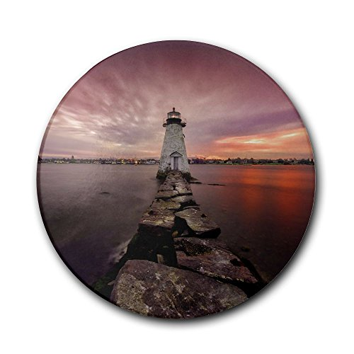 Fasdsdscvsd Massachusetts New Bedford Lighthouse Nature Sky Red Novelty Design Prevent Furniture From Dirty And Scratched,Coasters Set Suitable For Kinds Of Mugs And Cups