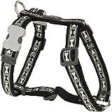 Red Dingo Dog Harness - Bone Yard Black - High Quality (Small)