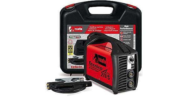 Telwin Tecnica 211/S - Soldadora electrodos MMA inverter: Amazon.es: Bricolaje y herramientas