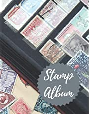 Stamp Album: Professional Stamp Collecting Album for Stamp Collectors, Stamp Collection Catalog Journal, Organize & Catalog Stamps,Tracking & organizing postage stamps(Philately Stamp Collectors Log Book)