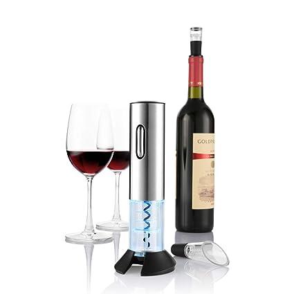 zanmini Sacacorchos eléctrico, Abridor de Botellas, Sacacorchos Recargable con Accesorios, abridor de Vino