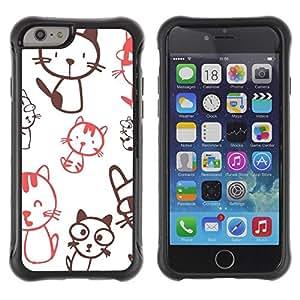 Suave TPU GEL Carcasa Funda Silicona Blando Estuche Caso de protección (para) Apple Iphone 6 / CECELL Phone case / / Cute Crazy Cat Pattern /