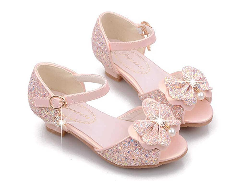MaxTide Girls Shiny Sequins Dance Ballet Flats Slip On Princess Dress Shoes