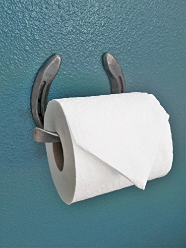 Rustic Horseshoe Toilet Paper Holder - The Heritage Forge Natural Metal (Dull)