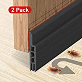 Holikme Door Draft Stopper 2 Pack Black 37-inch