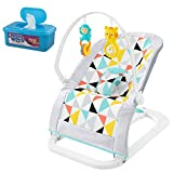 Fisher-Price Windmill Fold Flat Bouncer with Hypoallergenic Baby Wipes