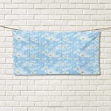 Chaneyhouse Winter,Hand Towel,Cute Kids Baby Pattern Night Sky with Soft Colored Stars New Year Theme,Quick-Dry Towels,Baby Blue Yellow White Size: W 10' x L 10'