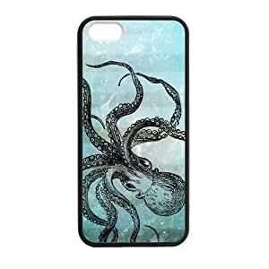 Canting_Good Octopusl Custom Case Shell Skin for iPhone 5 5S TPU (Laser Technology)