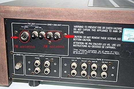 F Antena Interior de Alta fidelidad Macho FM 75ohm UNBAL y ...