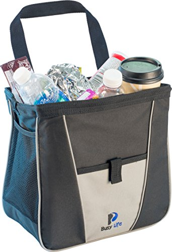 Busy Life Car Trash Bag - Keep Car Litter Out of Site with Our Handy Car Trash Bag - Leak Proof Design and Easy Wipe Liner - Great for Road Trips and Commuters