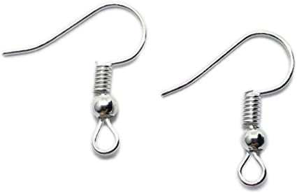 200 Silver Plated Simple Earring Fish Hook Ear Wire French Hook Jewelry Finding