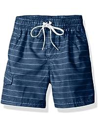Boys' Line up Stripe Quick Dry Beach Board Shorts Swim Trunk