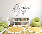 Winnie The Pooh Theme- Baby Room Wall Decal- Decal For Baby's Room- Quote Mural Decal (Wide 40'' x 40'' Height)
