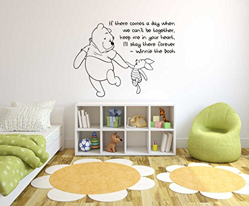 Winnie The Pooh Theme- Baby Room Wall Decal- Decal For Baby's Room- Quote Mural Decal (Wide 40