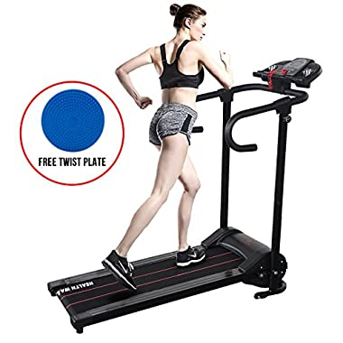 H.B.S Portable Folding Electric Running machine Motorized Treadmill Fitness Exercise Home Gym